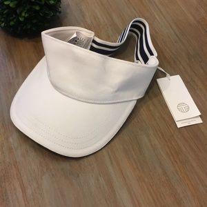 Tory Burch white visor NWT